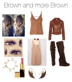 """Brown and more Brown"" by flowerpower2134 on Polyvore featuring Temperley London, Glamorous, Michael Antonio, Tom Ford, Tory Burch and Noor Fares"