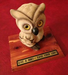 Five-dollar-shipping-flocked-plastic-owl-money-bank