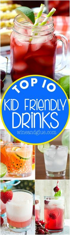 These Top 10 Kid Friendly Drink Recipes are so perfect for summer!: