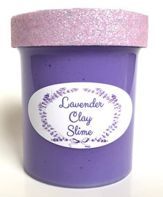 Homemade Lavender Scented Clay Slime 4oz Relaxing Smell