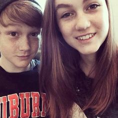 The Brothers : Madison Lintz and Matthew Lintz ♥ Perfect Madison Lintz, Lauren Cohan, The Brethren, The Walking Dead, Peaches, Pictures, Peach, Walking Dead