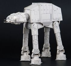 """STAR WARS """"AT-AT"""" Walker Vehice by SF Papercraft Via Papermau FREE SITE; PERSONAL USE ONLY"""