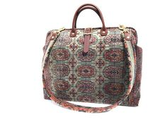 Carpet Bag Weekender Bag/ Overnight/ Carry on Flight travel
