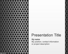 Metal Surface PowerPoint Template PPT Template