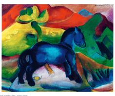 Blue Ponny - Franz Marc - print from allposters.com: click here