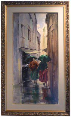 A rainy day in Venice - Cosimo Privato 1963 Italian Paintings, Venice, Day, Art