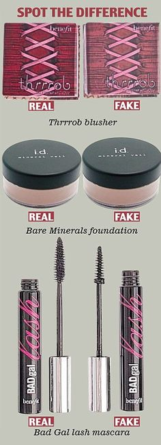 DON'T BE FOOLED BY COUNTERFEIT COSMETICS!!  They may look similar, but some of these fakes contain dangerous levels of toxic chemicals such as arsenic and lead!  Don't trust the pins you see about discounted makeup!