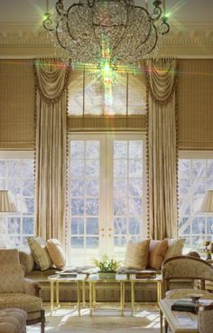window treatments for tall windows ideas.window treatments for tall ceilings.window treatments for tall skinny windows. Tall Window Treatments, Window Coverings, Salas Lounge, Design Lounge, Tall Windows, Interior Decorating, Interior Design, Decorating Ideas, Luxury Interior