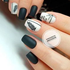 Season Nails Art Ideas que vous voudrez essayer dès maintenant - Makeup & Nails Black Nails, Pink Nails, My Nails, Matte Black, Black Nail Art, Brown Nails, Cute Acrylic Nails, Acrylic Nail Designs, Nail Art Designs