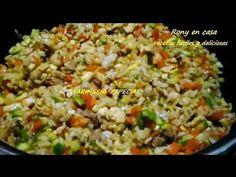 Cómo hacer Yakimeshi  -  receta fácil de arroz frito japones / Rony en casa