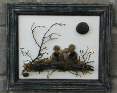 Pebble Art / Rock Art Family of Three family gift by CrawfordBunch