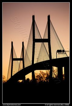 Designed by a woman and built under budget and under time! - Talmadge Memorial Bridge in Savannah, Georgia