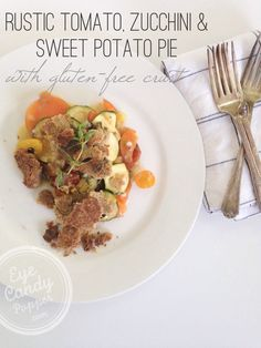 Meatless Monday: Rustic tomato, zucchini and sweet potato pie with gluten-free crust (GF, vegan) | eyecandypopper.com
