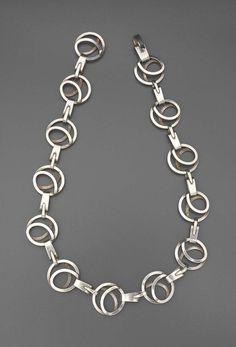 Necklace | Paul Lobel.  Sterling silver.  c. 1950 - 55