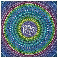 Original artwork by Elspeth McLean PEACE Mandala por ElspethMcLean