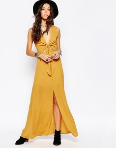 Image 4 ofWyldr Bow Front Maxi Dress