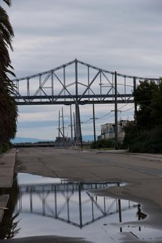 Shot of the Oakland Bay Bridge from Treasure Island