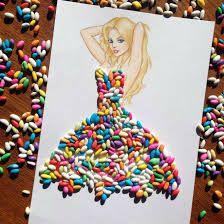 Creative Fashion design Illustration by Armenian artist Edgar Fashion Design Drawings, Fashion Sketches, Fashion Illustrations, Arte Fashion, Deco Originale, Dress Drawing, Flower Fashion, Designs To Draw, Food Art