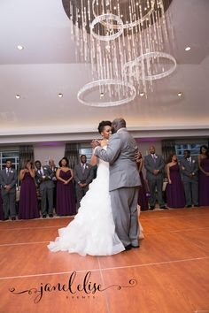 Wedding First Dance. I'm excited to share photos from Ashlee and John's Wedding at Hyatt Atlanta Perimeter at Villa Christina. My favorite element was the circle ceremony and the marriage covenant that she displayed at the reception. Photo Credit: Taun Henderson Photography