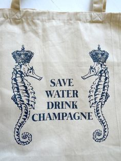royal sea horses save water drink champagne grey by janetmorrin