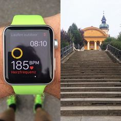 Stairway to strong legs heaven  Mostly my first obstacle on each run ... after that: easy going!  Today only 30min run with 80% of maximum heart rate  Training day 7/week 2 for HM  #running #laufen #halfmarathon #halbmarathon #halbmarathontraining #halbmarathonmünchen #worlderunners #seemyrun #21km #roadto21k #InstaRunners #applewatch by ngugi
