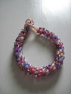Kumihimo bracelet in Spring.  www.idlehandsnc.etsy.com