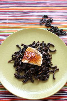 Locust bean pasta with Greek mizithra cheese, sesame and grape molasses! Amazing dish in just 6 minutes!