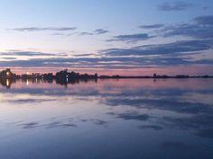 Sunset, lagoon, Lefkada