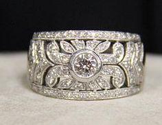 (23-00001-02) 18l White Gold 1.0 cttw Diamond Band