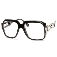 525095871d Large Classic Retro Square Frame RUN DMC Clear Lens Glasses Mens Glasses