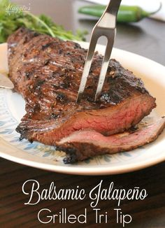 This mouthwatering Balsamic Jalapeño Grilled Tri Tip is so tender and yummy. It's what summer nights and outdoor entertaining are made of. Happy Grilling!