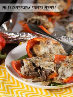 Philly Cheesesteak Stuffed Peppers are a low-carb, gluten-free, tasty alternative to the Philly Cheesesteak Sandwich! Philly Cheesesteak Stuffed Peppers are a low-carb, gluten-free, tasty alternative to the Philly Cheesesteak Sandwich! Beef Recipes, Cooking Recipes, Healthy Recipes, Recipies, Cheesesteak Stuffed Peppers, Beef Dishes, Entrees, Main Dishes, Dinner Recipes