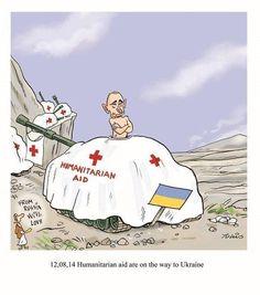 "Putin's ""humanitarian aid"" Russia #cartoon #terrorussia"