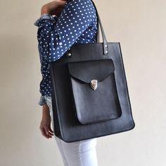 Pamela Oversized Leather Tote Bag | Golden Ponies