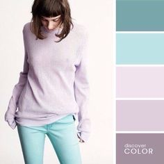 Спокойные и нежные цветовые палитры для создания образов! 1