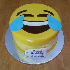 Laughing Emoji Cake.