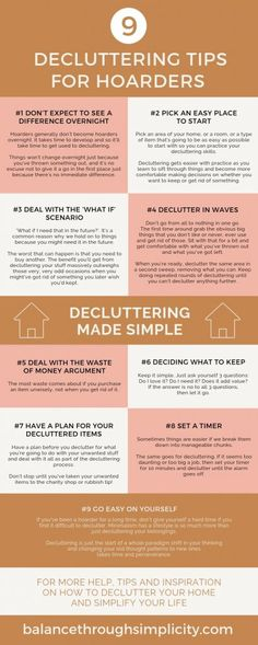 9 decluttering tips for hoarders - Balance Through Simplicity - When you're a hoarder it can be difficult to know where and how to start to declutter your home a - #