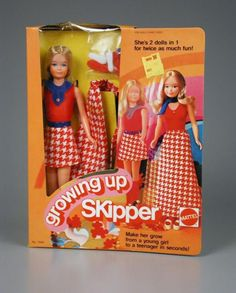 Controversial Barbie doll Growing Up Skipper doll 1975