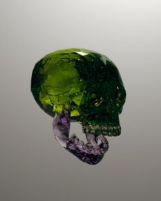 Julien Brunet's gemstone skulls: The young French artist known for the reconstruction of lines and colors, is showing his highly visual 3D computer art of chiseled precious stone skulls at the Boutique 16ème Sud in Paris.