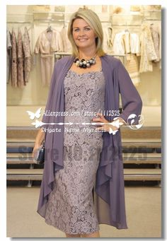 Plus Size Mother of Groom/Bride Dress 2016 Cheap In Stock Vintage Lace Formal Dress Free Chiffon Jacket Sheath Knee-Length Mother Suits Mob Dresses, Tea Length Dresses, Fall Dresses, Plus Size Dresses, Dresses For Sale, Nice Dresses, Bridesmaid Dresses, Formal Dresses, Wedding Bridesmaids