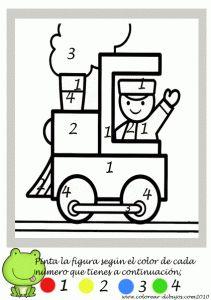 Colorear con números. Manualidades a Raudales. Preschool Colors, Numbers Preschool, Preschool Classroom, Preschool Learning, Kindergarten Worksheets, Toddler Preschool, Learning Activities, Preschool Activities, Kindergarten Coloring Pages