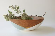Wood dipped bowl $75