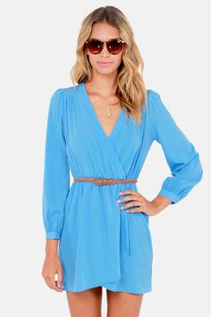 That's a Wrap Sky Blue Long Sleeve Dress Get 7% Cash Back http://www.studentrate.com/itp/get-itp-student-deals/lulu-s-Student-Discount--/0