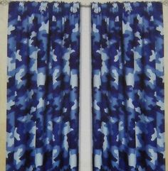 Blue Camouflage Curtains From Our Kids Curtains Range At Childrenu0027s Rooms  ... Http: