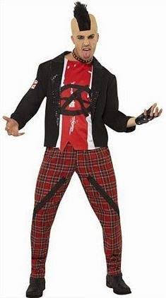 Punk Anarchist Costume for Men Punk rock started around the mid and developed into many different styles in the early It was . 1980s Costume, Punk Costume, Costume Dress, Costumes, Rocker Costume, Punk Dress, Alternative Outfits, Punk Fashion, Fancy Dress