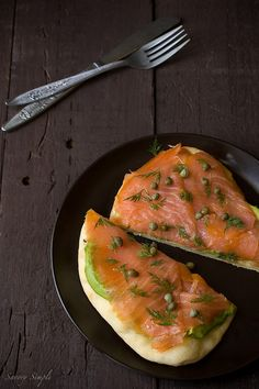 Smoked Salmon and Avocado Tartine ~ A simple lunch sandwich full of healthy fats and bold flavor!