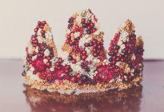 Christmas Flower Crown - Wire Crown - Fairy Crown - Flowergirl hairpiece - Newborn Photo Prop - Wedding Crown - Floral Hairpiece by LittleLadyAccessory on Etsy