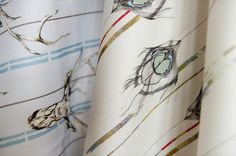 Rachel produces a range of individually hand painted, screen printed and digitally printed interior textiles. Textile Prints, Textile Design, Southampton England, Feather Wallpaper, Rachel Reynolds, Interior Wallpaper, Creative Skills, Satin Fabric, Giclee Print