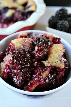 Blackberry cobbler. Made this. Very tasty and easy to make.