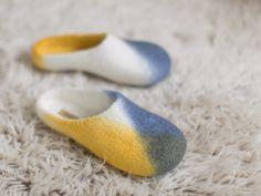 Handmade felted slippers  US 910 UK 7 EU 40  by AureliaFeltStudio, $75.00
